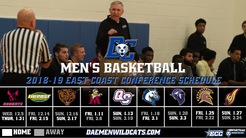 288d0515e4 Men s Basketball ECC Schedule Announced - Daemen College Athletics